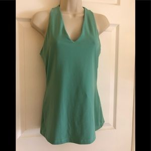 Susana Monaco Teal Green Sleeveless Top Sz M EUC